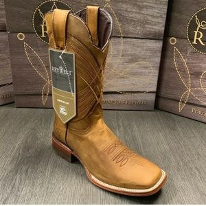 01487 MEN'S RODEO COWBOY BOOTS GENUINE LEATHER